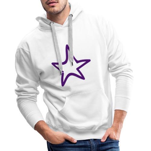Star Outline Pixellamb - Männer Premium Hoodie