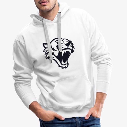 Tete tigre 300dpi noir - Sweat-shirt à capuche Premium pour hommes