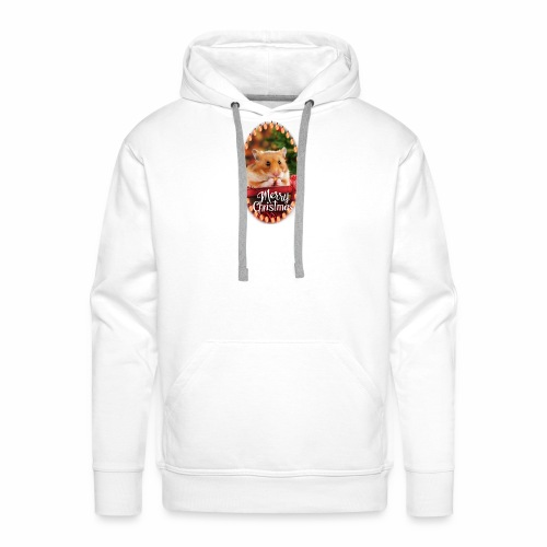 Süßer Hamster Weihnachten Weihnachtsmotiv Nager - Männer Premium Hoodie
