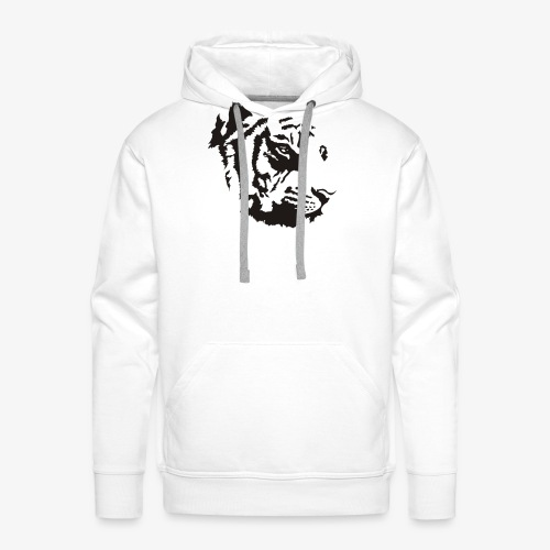 Tiger head - Sweat-shirt à capuche Premium pour hommes
