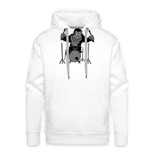 Drumming Gorilla - Men's Premium Hoodie