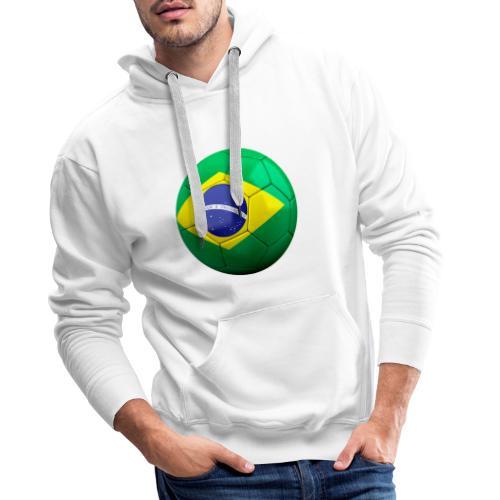 Bola de futebol brasil - Men's Premium Hoodie
