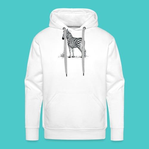 Cebra - Sudadera con capucha premium para hombre
