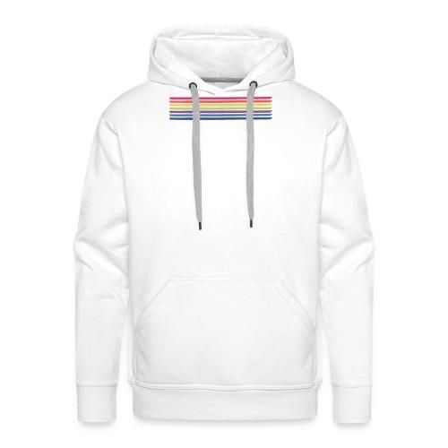 Farvede linjer horisont - Herre Premium hættetrøje