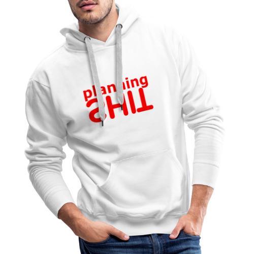 PLANNING - Sudadera con capucha premium para hombre