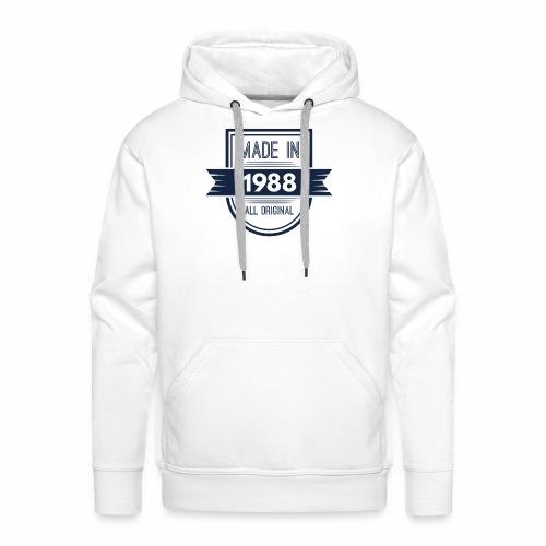 1988 blauw - Mannen Premium hoodie