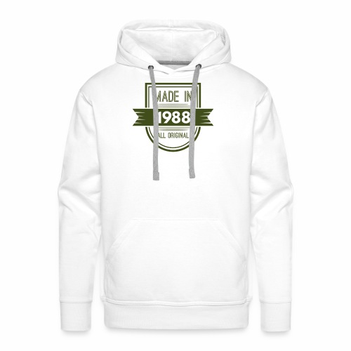 1988 olive - Mannen Premium hoodie