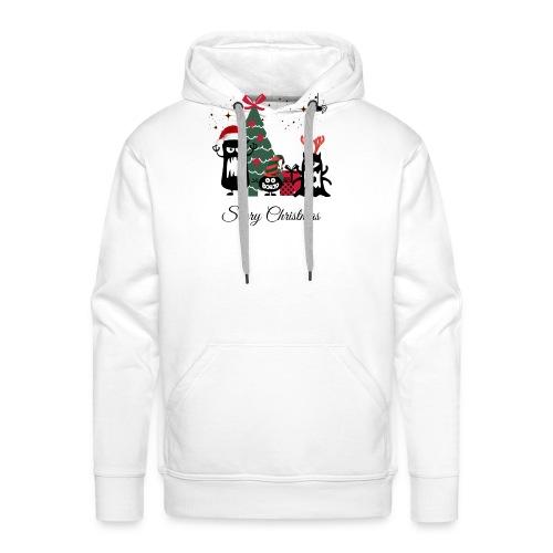 Noël effrayant - Scary Christmas - Sweat-shirt à capuche Premium pour hommes