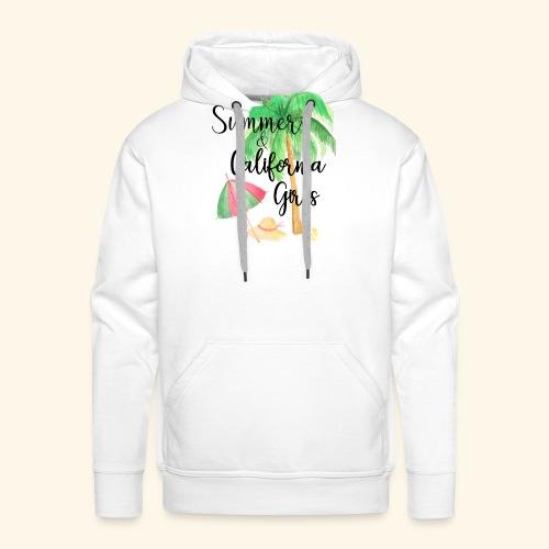 California Girl at Beach - Männer Premium Hoodie