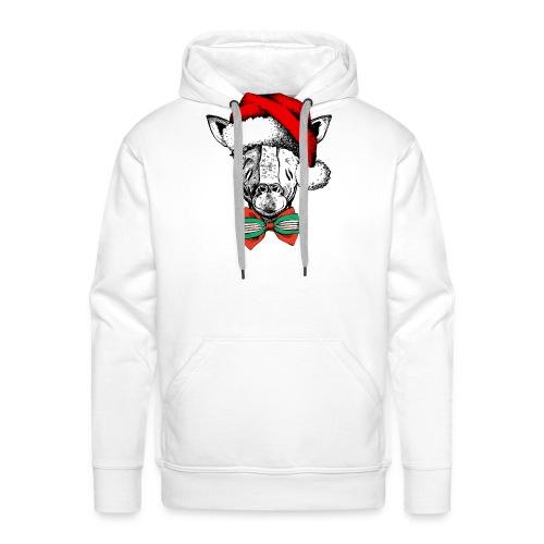 Christmas Giraffe - Men's Premium Hoodie