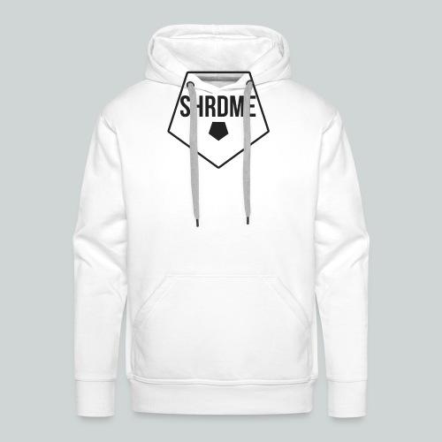 SHRDME Logo Weiß png - Männer Premium Hoodie