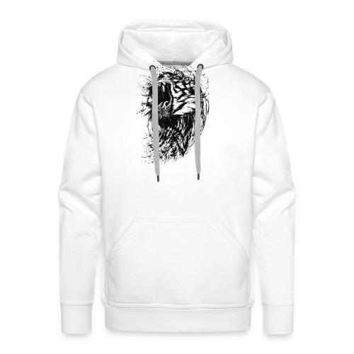 Tiger Print - Männer Premium Hoodie