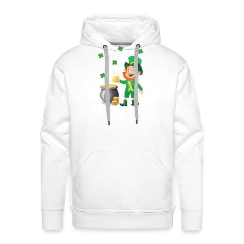 Irish Leprechaun With Pot Of Gold St. Patricks Day - Men's Premium Hoodie