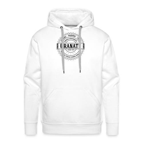 Pasión Granate - Sudadera con capucha premium para hombre