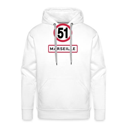Marseille 51 - Sweat-shirt à capuche Premium pour hommes