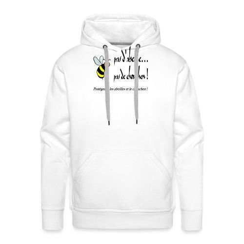 Pas d'abeille, pas de chouchen - Sweat-shirt à capuche Premium pour hommes