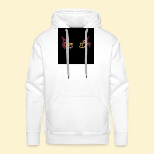 Logo flipflops - Mannen Premium hoodie