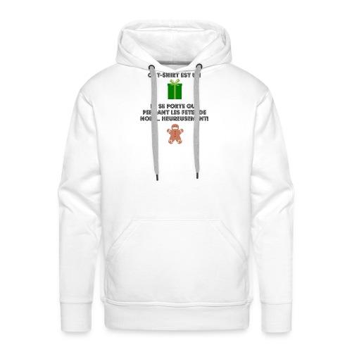 T-shirt cadeau de Noël - Sweat-shirt à capuche Premium pour hommes