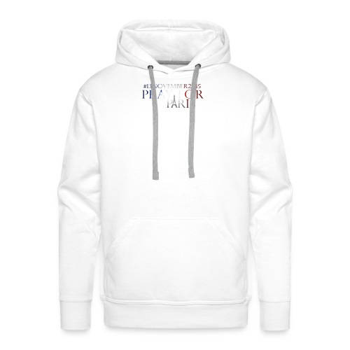Pray for paris with France flag - Mannen Premium hoodie