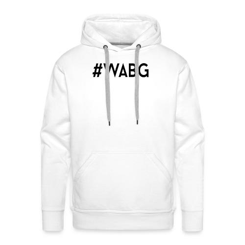 WABG ZWART png - Mannen Premium hoodie