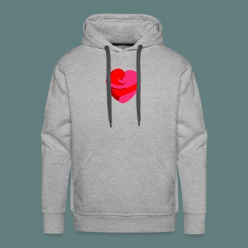 hearts hug - Felpa con cappuccio premium da uomo