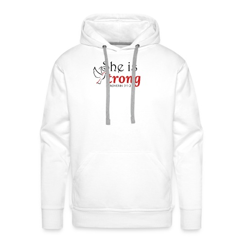 she is strong - Men's Premium Hoodie
