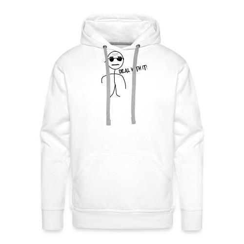 DEAL_WITH_IT--png - Mannen Premium hoodie