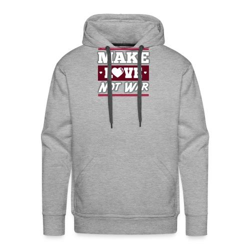 Make_love_not_war by Lattapon - Herre Premium hættetrøje