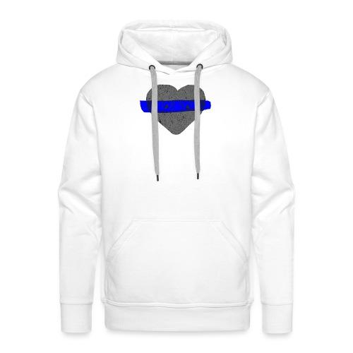 serduszko blu - Bluza męska Premium z kapturem