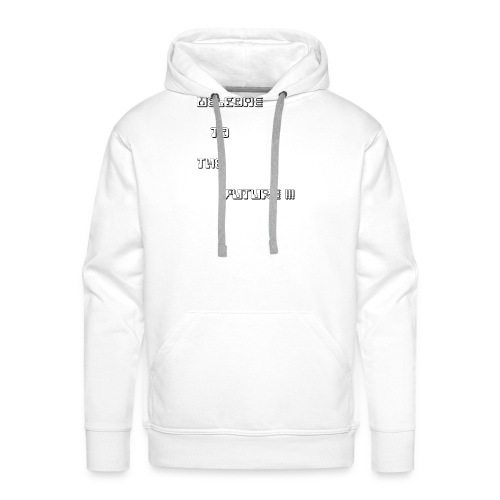 WelcometotheFuture - Mannen Premium hoodie