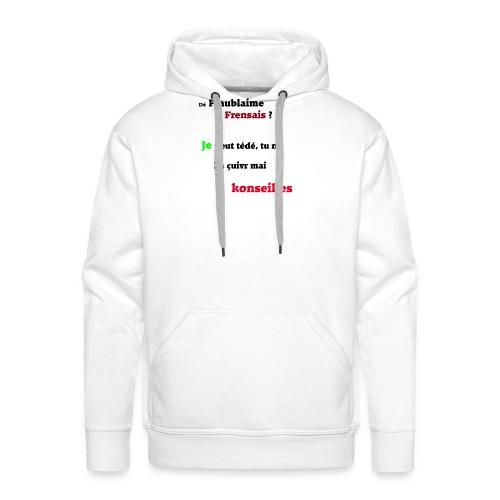 Probleme en français - Sweat-shirt à capuche Premium pour hommes