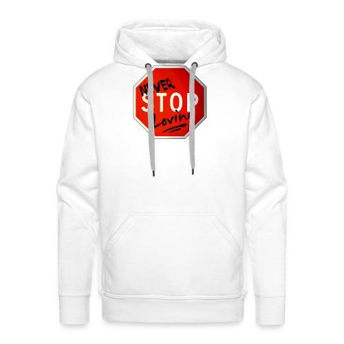 never stop loving - Sweat-shirt à capuche Premium pour hommes