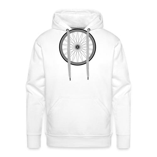 roue de vélo - Sweat-shirt à capuche Premium pour hommes