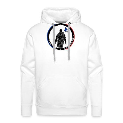 logo citoyen prevoyant2 - Sweat-shirt à capuche Premium pour hommes