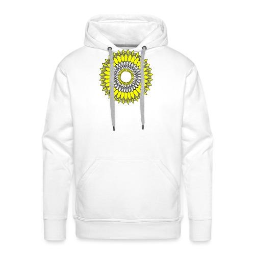 Yellow Sunflower Mandala - Men's Premium Hoodie