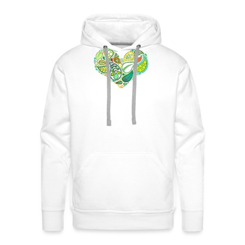 Green Leaf Heart Mandala - Men's Premium Hoodie
