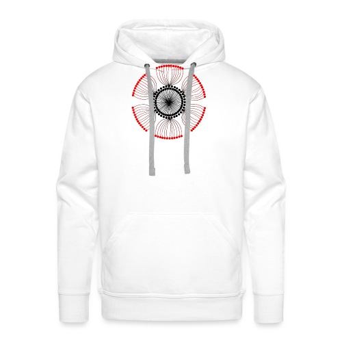 Red Poppy Seeds Mandala - Men's Premium Hoodie