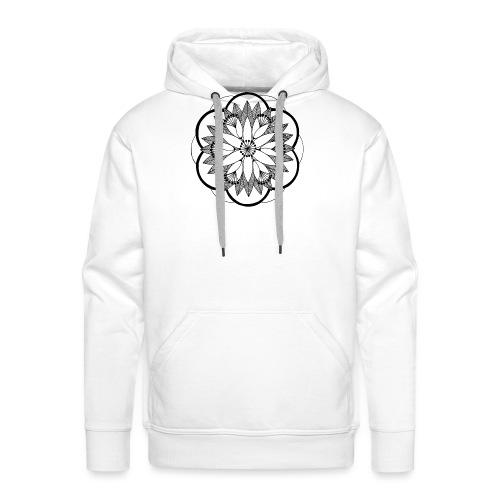 Pond Bouquet Mandala - Men's Premium Hoodie
