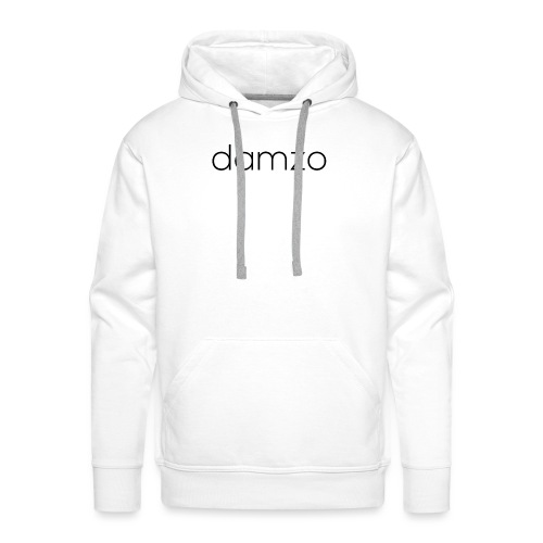 Damzo Simple 2 Sided Text Tee - Men's Premium Hoodie