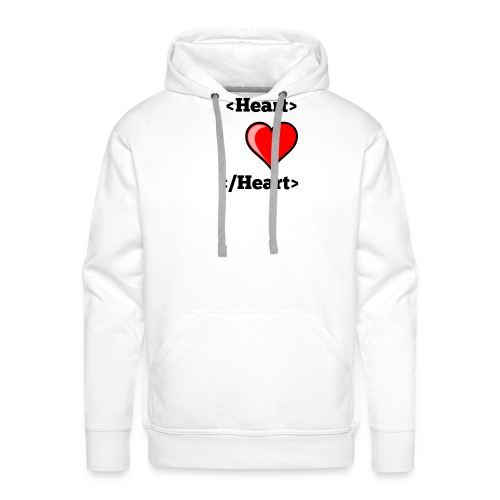 Html Heart - Sweat-shirt à capuche Premium pour hommes