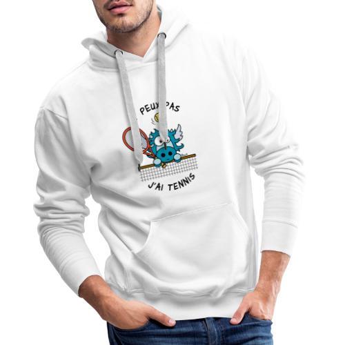Licorne Bleu, Balle Raquette Tennis - Sweat-shirt à capuche Premium pour hommes