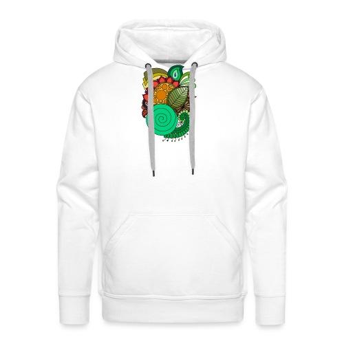 Coloured Leaf Mandala - Men's Premium Hoodie
