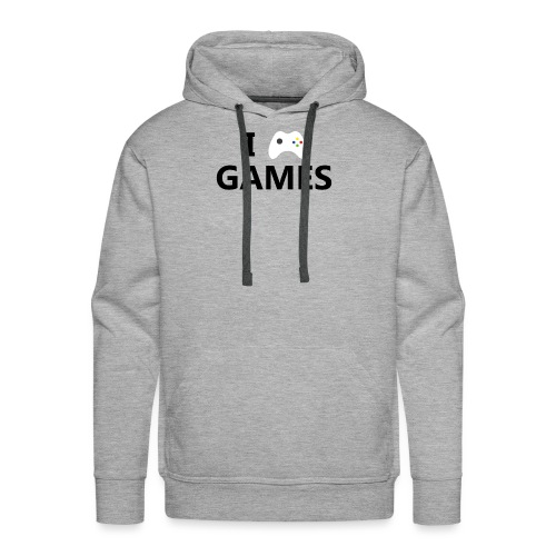 I Love Games - Sudadera con capucha premium para hombre