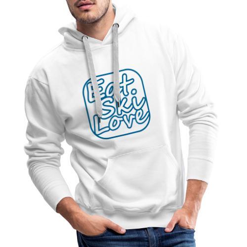 eat ski love - Mannen Premium hoodie