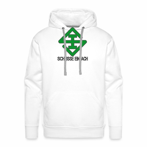 scheisse_einfach_logo_txt - Männer Premium Hoodie