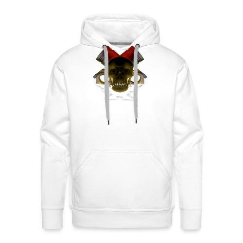 crane pistonné eclair - Sweat-shirt à capuche Premium pour hommes
