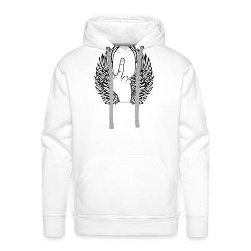 middle finger with wings - Mannen Premium hoodie