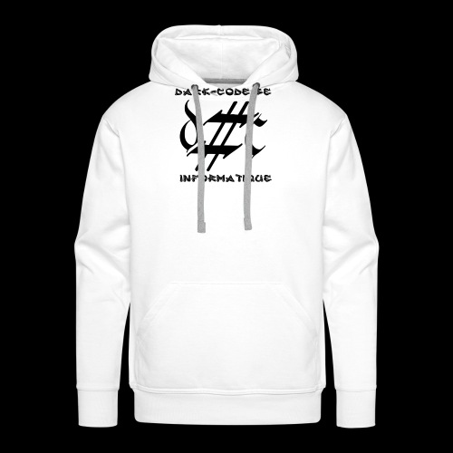 Dark-Code Black Gothic Logo - Sweat-shirt à capuche Premium pour hommes