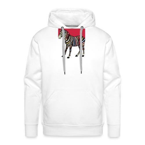 zebra tshirt design - Men's Premium Hoodie