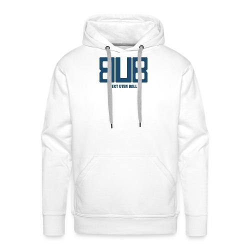 BUB - BLÅ - Premium hettegenser for menn
